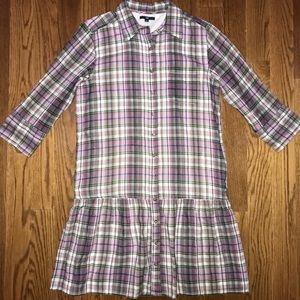 GAP Plaid Women's Medium Button Down Dress